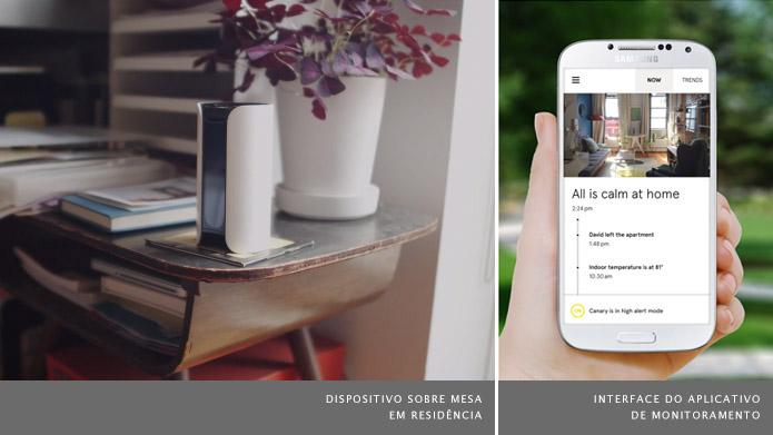 Conecte o dispositivo à sua rede Wi-Fi e ele mantém o usuário informado sobre qualquer anormalidade (Foto: Divulgação/Canary)