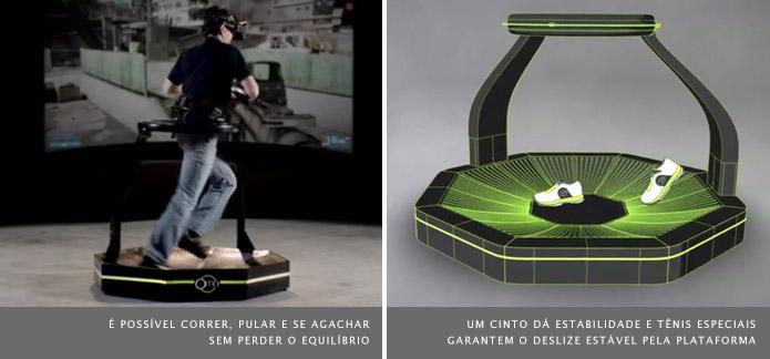 O Omni pode ser desmontado como uma esteira de corrida para facilitar seu armazenamento (Foto: Divulgação/Virtuix)