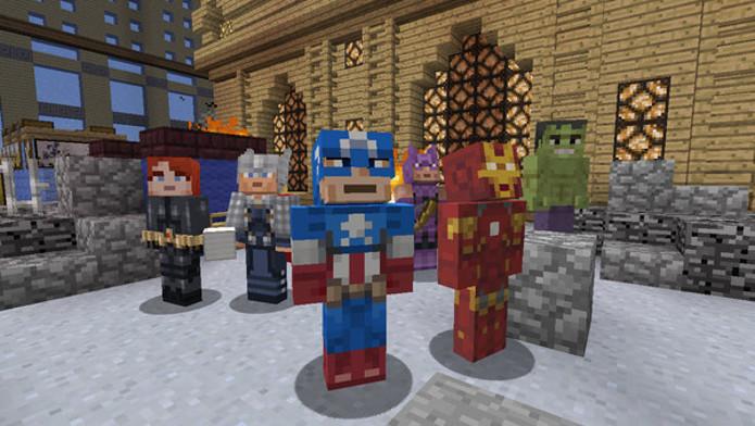 Minecraft-Xbox360-Avengers-herois