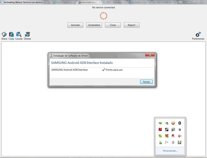 Aguarde a instalação do drive que ativará o recurso de filmagem do ASC em seu Android (Foto: Reprodução/Daniel Ribeiro)