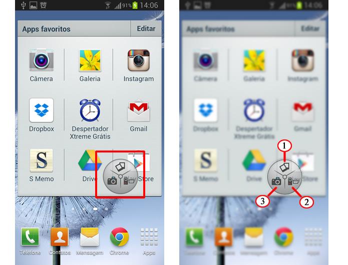 O app passará a funcionar através de uma prática ferramenta com três botões que flutua sobre a tela (Foto: Reprodução/Daniel Ribeiro)