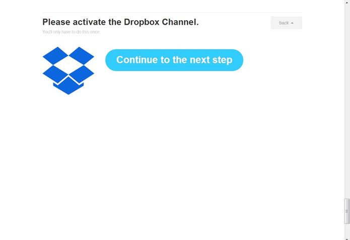 Selecione o botão em azul para seguir para o próximo passo (Foto: Reprodução/Daniel Ribeiro)
