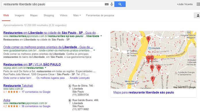 Comandos de voz podem localizar locais (foto: Reprodução/Google)