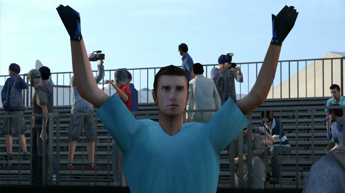 Homem tenta reproduzir emoticon ¯\_(ツ)_/¯ em Gran Turismo 6 (Foto: Gameranx)