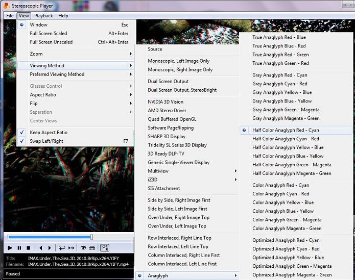 Ajuste a cor neste menu do KM Player (Foto: Reprodução / absoluteverdict.)