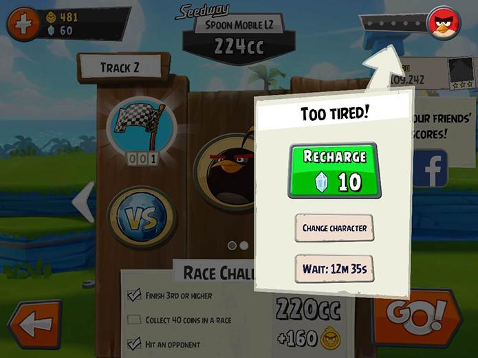 Angry Birds Go: dicas para vencer no game de corrida para smartphones (Foto: Reprodução/Murilo Molina)