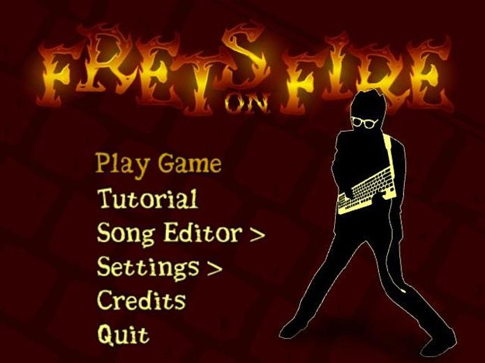Segure o teclado como uma guitarra em Frets on Fire (Foto: Divulgação)