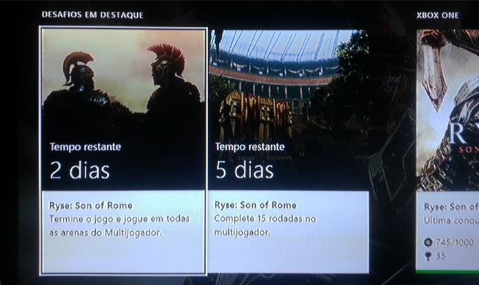 Xbox One traz atualizado sistema de conquistas e desafios. (Foto: Reprodução)