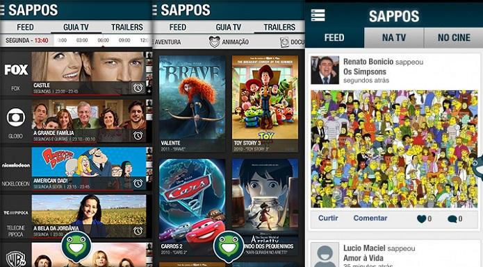Sappos permite discutir sobre o que está passando na TV (Foto: Divulgação)