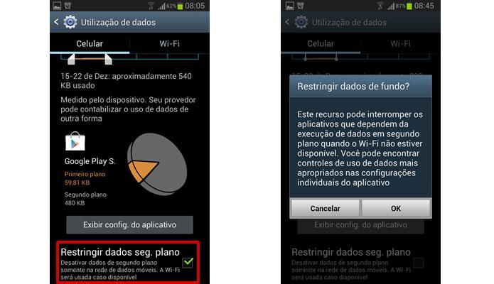"""Marcando """"Restringir dados em segundo plano"""", o app só usará o 3G quando for executado, ficando inativo sempre que em segundo plano (Foto: Reprodução/Daniel Ribeiro)"""