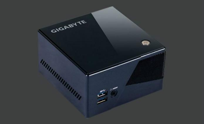 """GIGABYTE - Ainda sem preço definido. O """"Brix Pro"""" é um computador compacto superpotente. Possui processador Intel Core i7-4770R, 8 GB de RAM, placa de vídeo Intel Iris Pro 5200 e HD de 1 TB (Foto: Divulgação/Valve)"""