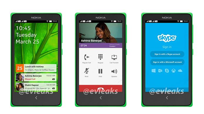 Imagens vazadas no Twitter revelam interface  modificada do Android em smart da Nokia (Foto: Reprodução/Evleaks)