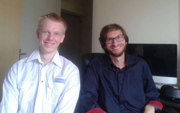 Os primos Luiz Alojziak e Ricardo Bencz foram os criadores do jogo baseado no SUS (Foto: Arquivo Pessoal)