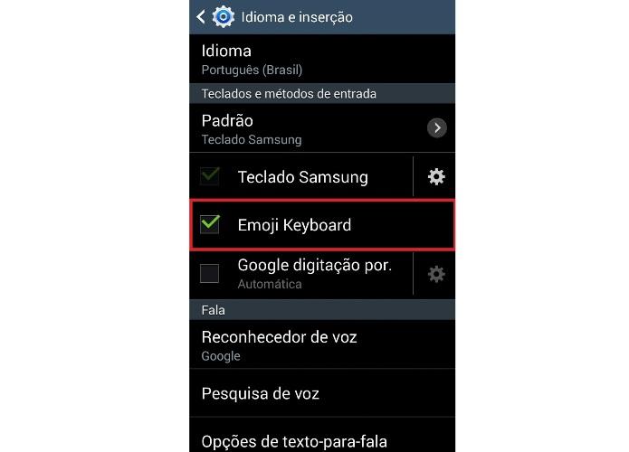 Configurações do teclado do Android (Foto: Reprodução/Lívia Dâmaso)