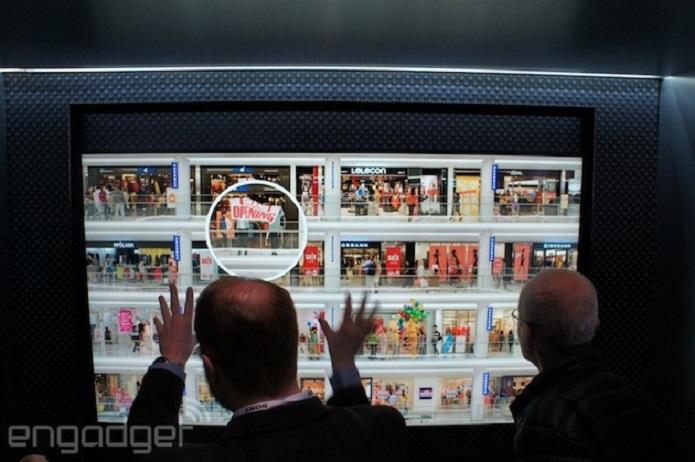 A Samsung apresentou um protótipo de TV com resolução 8K; Não há previsão de chegada ao mercado (Foto: Reprodução/Engadget)