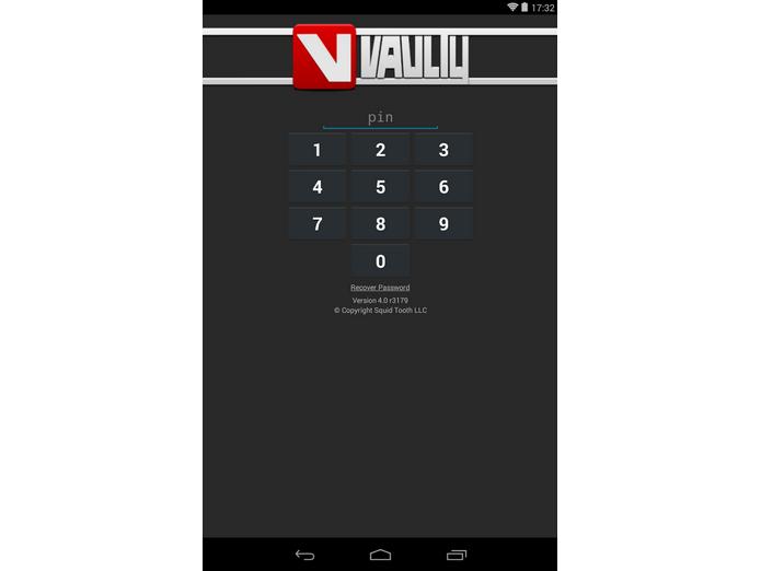 Configure uma senha para o Vaulty (Foto: Reprodução)