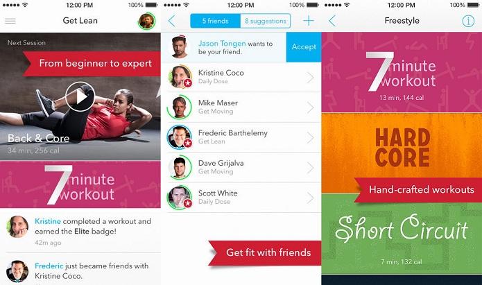 FitStar oferece exercícios personalizados e vídeos para te deixar em forma (Foto: Divulgação)