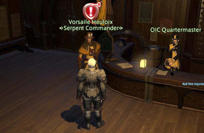Fale com o Comandante de sua Grand Company (Foto: Reprodução/Silas Tailer)