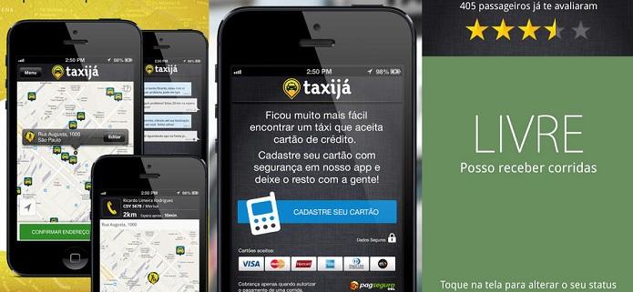 Localize, obtenha informações e chame um táxi com o Taxijá (Foto: Divulgação)