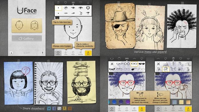 Crie seu vatar sem precisar saber desenhar com o Uface (Foto: Divulgação)