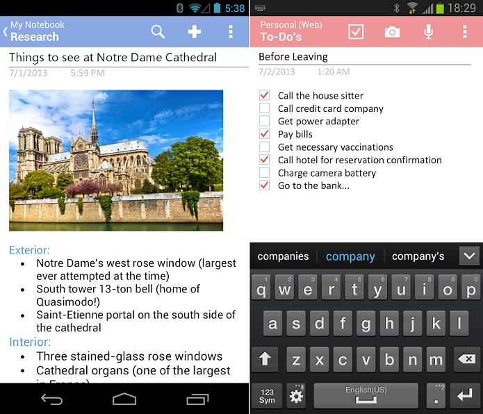 OneNote é app completo de anotação (Foto: Divulgação)