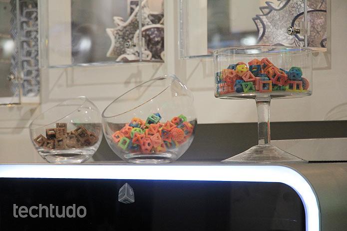A 3D Systems diz que a impressora cria pratos originais e exclusivos (Foto: Monique Mansur/TechTudo)