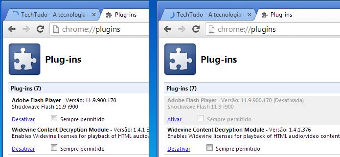 Desativando o Flash no Chrome (Foto: Reprodução/Edivaldo Brito)