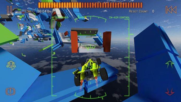 Puzzle com cara de corrida, assim é Jet Car Stunts 2 (Foto: Divulgação)