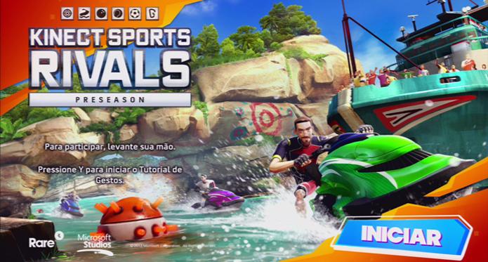 Tela inicial de Kinect Sports Rivals. (Foto: Reprodução)
