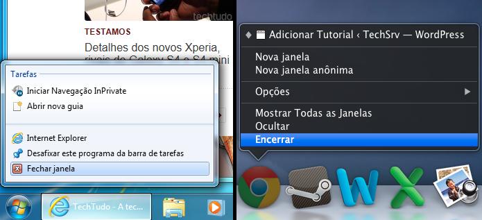 Fechando programa que estão usando Flash, no Windows e no Mac (Foto: Reprodução/Edivaldo Brito)