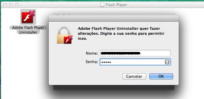Autorizando a desinstalação do Flash no Mac (Foto: Reprodução/Edivaldo Brito)