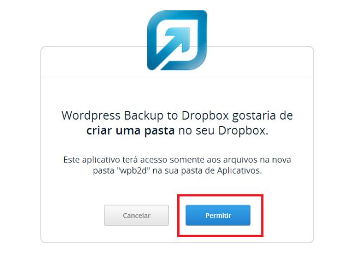 Vinculando o plugin com o Dropbox (Foto: Reprodução/Lívia Dâmaso)