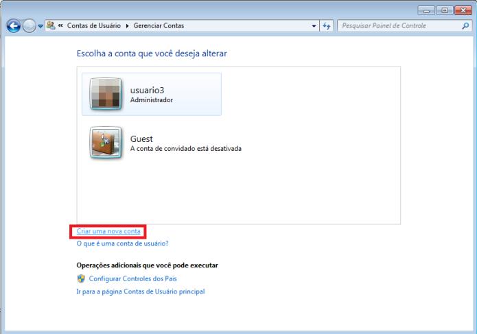 Criando um novo usuário no Windows (Foto: Reprodução/Lívia Dâmaso)