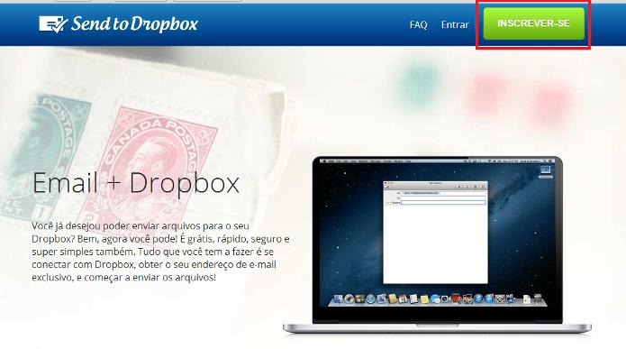 Send to Dropbox (Foto: Reprodução/Lívia Dâmaso)