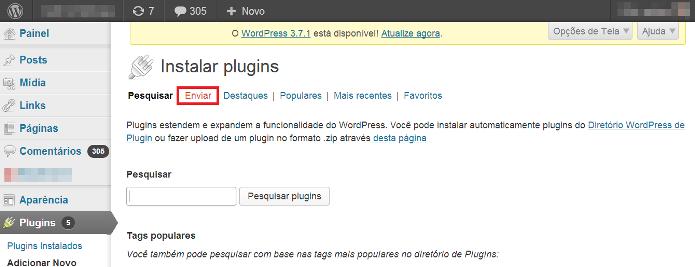 Instalando o WordPress Backup to Dropbox (Foto: Reprodução/Lívia Dâmaso)