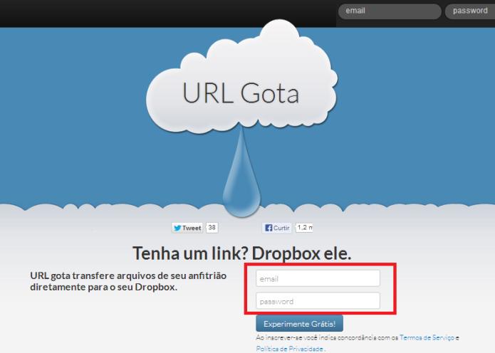 URL Droplet (Foto: Reprodução/Lívia Dâmaso)