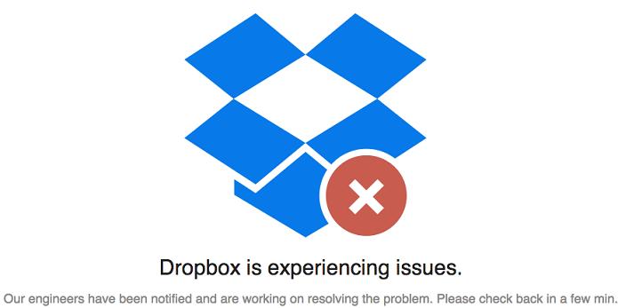 Dropbox teve problemas nos últimos dias (Foto: Reprodução/TechCrunch)