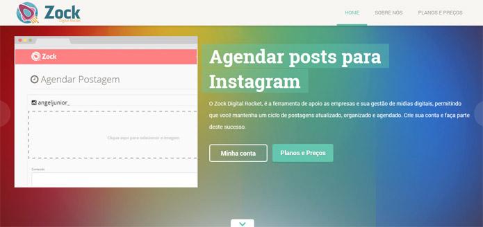Site brasileiro permite agendamento de fotos no Instagram (Foto: Reprodução/Vinícius Sacramento)