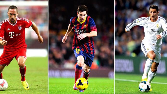 Messi, Ronaldo ou Ribery: quem é o melhor em Fifa e PES? (Foto: Reprodução/SporTV)