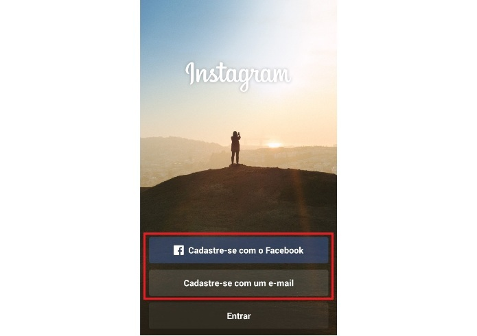 Criando uma foto no Instagram (Foto: Reprodução/Lívia Dâmaso)
