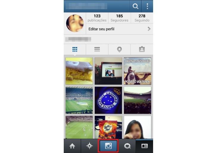 Postando um vídeo no Instagram (Foto: Reprodução/Lívia Dâmaso)