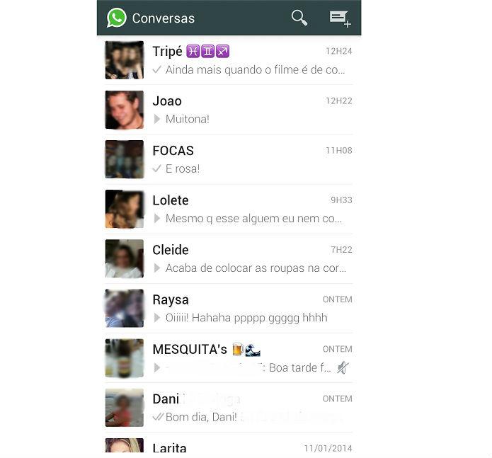 Abra o WhatsApp e escolha o grupo que deseja silenciar (Reprodução/ Taysa Coelho)