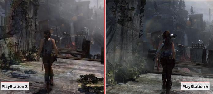 Comparação mostra versões de PS3 e PS4 de Tomb Raider (Foto: Reprodução/IGN)