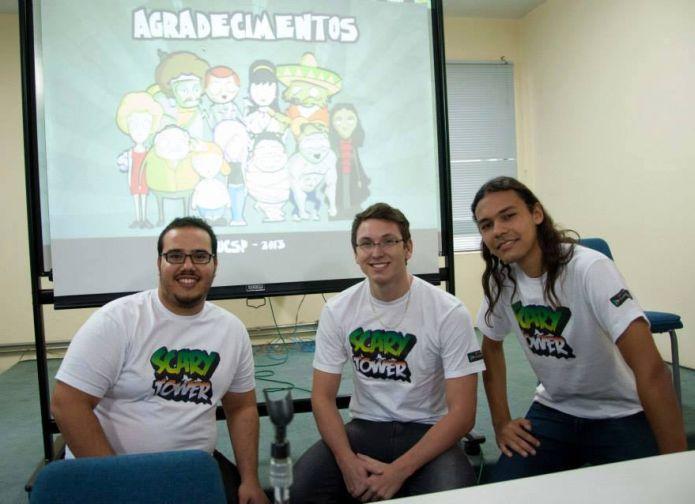 O time de Scary Tower: Vinicius Correa, Evandro Lima e Paulo Renan de Melo (Foto: Arquivo Pessoal)