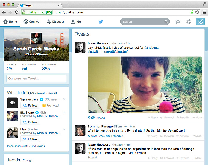 Novo visual do Twitter é mais clean e se alinha às versões do microblog para Android e iOS (Foto: Reprodução/Twitter)