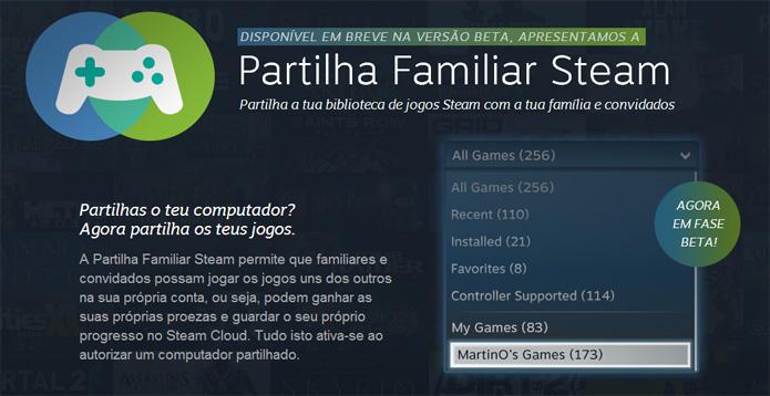 Saiba como compartilhar jogos no Steam (Foto: Reprodução/Felipe Vinha)