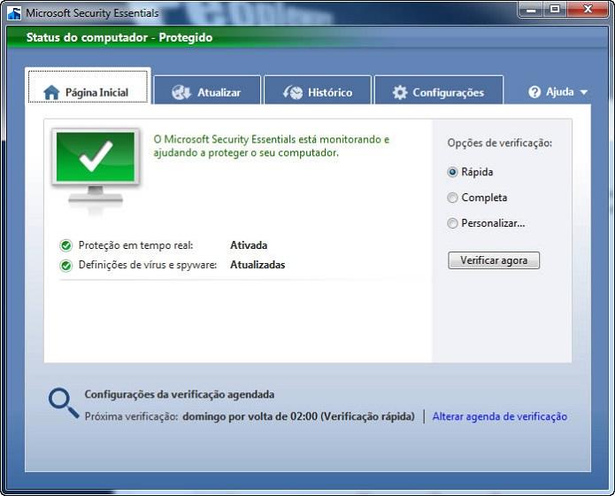 Essentials continuará rodando no XP (Foto: Reprodução/Sapo)