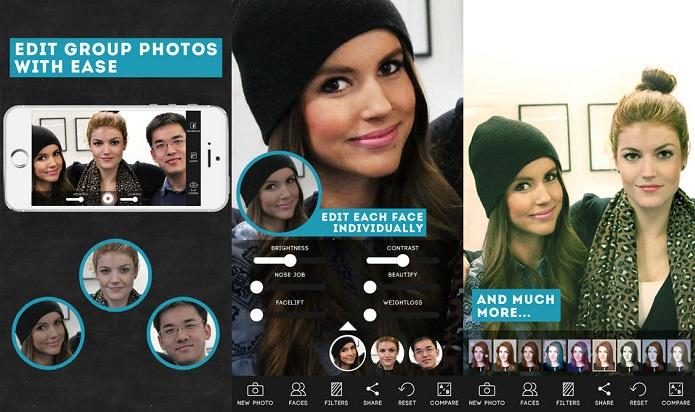 ModiFace Camera permite fazer ajustes de rostos em fotos (Foto: Divulgação)