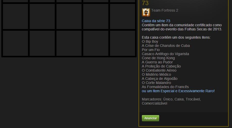 Após selecionar o item, clique no botão Anunciar (Foto: Reprodução/Paulo Vasconcellos)