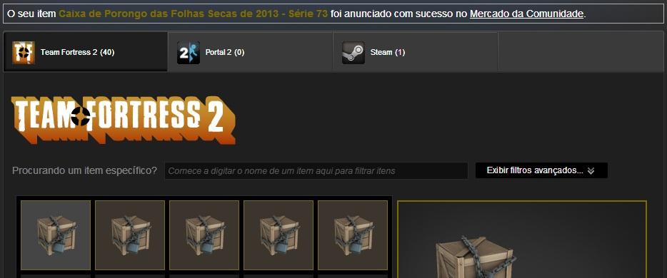 Pronto, seu item foi anunciado (Foto: Reprodução/Paulo Vasconcellos)
